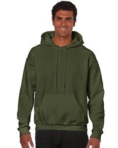 Gildan Heavy Blend Erwachsenen Kapuzen-Sweatshirt 18500 Military Green, XL