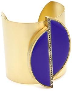 """Paige Novick """"Tropical Brights"""" Cobalt Enamel Sliced Cuff Bracelet"""