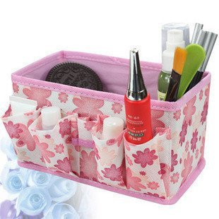 BDS - Cosmetic Organizer (Green Color) / Makeup Organizer / Accessory Storage + One Free BDS Ponytail Holder