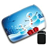 Christmas With Baby Snowman Receiving Gifts Santa For Amazon Kindle Fire & Kindle 3G Keyboard Soft Protection Neoprene Case Cover Sleeve Bag With Pocket which is Ideal for Headphones, Data Cable etc
