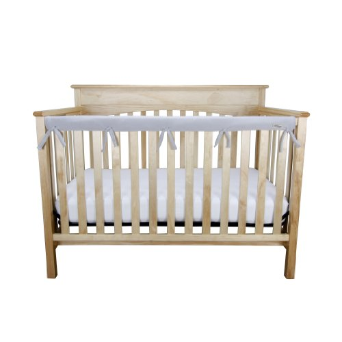 Trend-Lab-CribWrap-Fleece-Rail-Cover-for-Long-Rail-Gray-Narrow-for-Crib-Rails-Measuring-up-to-8-Around