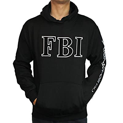 Washington DC FBI Non-Zip Hoodie Black
