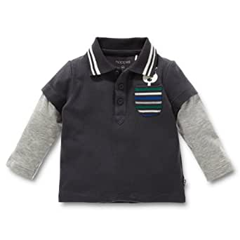 Noppies Baby - Jungen Poloshirt 24605-Polo Airboy, Gr. 56, Grau (anthracite)