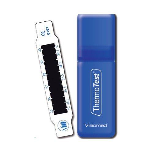 Thermotest VM-TS1 Fieberthermometer (für die Stirn, LCD-Anzeige), Weiß