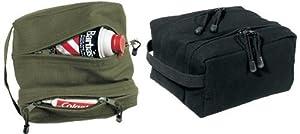 Dual Compartment Travel Kit Bag Black