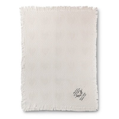 Personalized Embroidered Antique White Love Throw front-481560