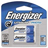 Energizer E2 Lithium Photo Battery 123 3V 2/Pack