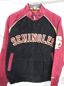 G-III Florida State Seminoles Mens X-Large Full Zip Soft Leather Jacket (B) by G-III Sports
