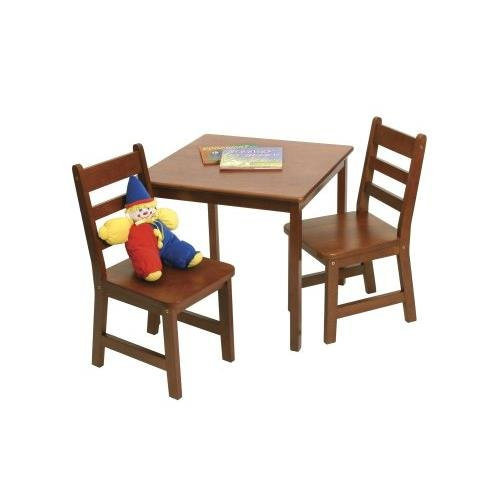 Pleasant Lipper Small Table And Chairs Set Color Cherry Short Links Chair Design For Home Short Linksinfo