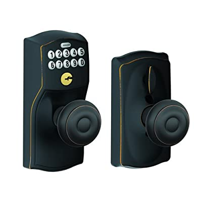 Schlage Camelot Keypad Entry with Flex-Lock and Georgian Style Knobs