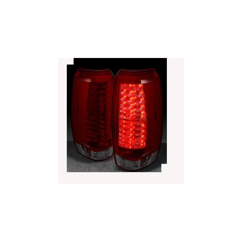 Chevy Avalanche 2007 2008 2009 2010 2011 2012 LED Tail Lights   Red Smoke