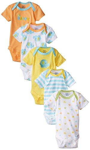 gerber-unisex-baby-variety-onesies-brand-bodysuits-elephant-0-3-months-pack-of-5