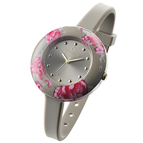 OPUS SYSTEMS OBJECTS OPSFLOWER WATCHES · Armbanduhr | Uhrarmband | Uhrband · grau pink gold