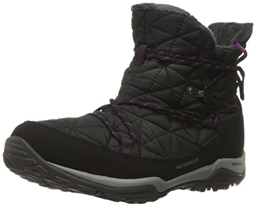 Columbia Loveland Shorty Omni-Heat, Stivali da Neve Donna, Nero (Black, Bright Plum 010Black, Bright Plum 010), 38.5 EU