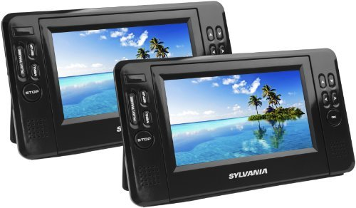 Sylvania SDVD8791 7-Inch Twin Mobile Dual Screen/Dual DVD Portable DVD Player