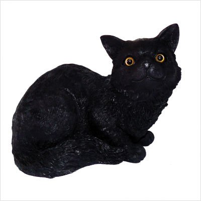 Michael Carr 80005B Cat Sitting Down Meow, Black