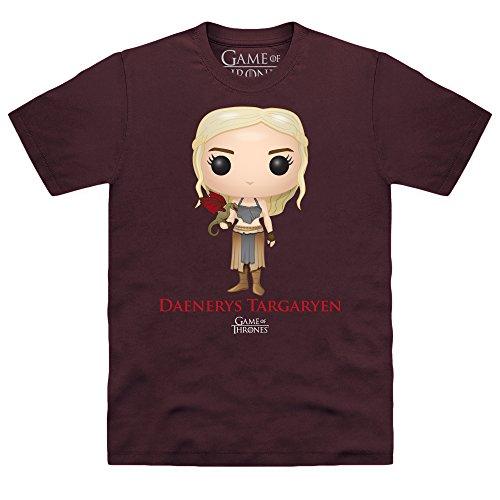 Official Game of Thrones - Funko POP Daenerys Targaryen Organic T-shirt, Uomo, Viola, L