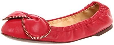 See By Chloe Women's SB19117-105 Ballerina Flat,Red,39.5 EU/9.5 M US