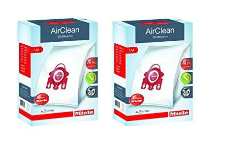 Miele AirClean 3D Efficiency Dust Bag, Type FJM, 8 Bags & 4 Filters (Miele Dust Bags Fjm compare prices)