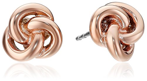 Fossil Heritage Rose Gold Knots Stud Earrings
