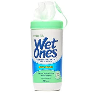 Wet Ones Sensitive Skin 12/40ct