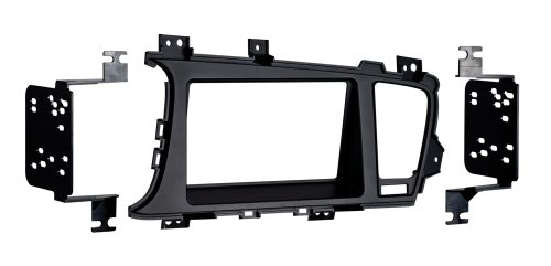 Metra 95-7345B Double DIN Dash Fitment Kit for Kia Optima 2011-UP (Black)