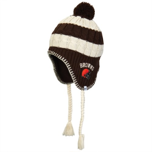 NFL Cleveland Browns Women's Sherpette Knit Cap, Brown at Amazon.com