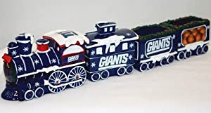 New York Giants NFL Football Decorative Christmas Train Set by Forever Collectibles