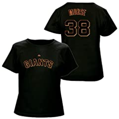 Michael Morse San Francisco Giants Black Ladies Player T-Shirt by Majestic by Majestic