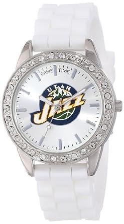 Game Time Ladies NBA-FRO-UTA Frost NBA Series Utah Jazz 3-Hand Analog Watch by Game Time