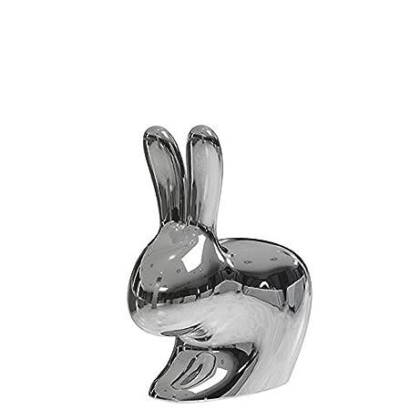 QEEBOO RABBIT CHAIR BABY METAL Fauteuil de salon Plastique Titane 45,3x26,2x52,7 cm
