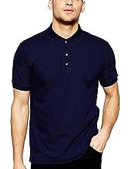 ADRO Men's Cotton Polo Tshirt (Navy Blue)