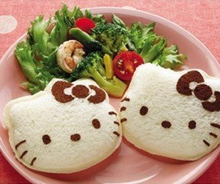 2pcs/lot Hello Kitty Sandwich Mold Bread Cake Mold Maker DIY Mold Cutter (Hello Kitty Bread Mold compare prices)