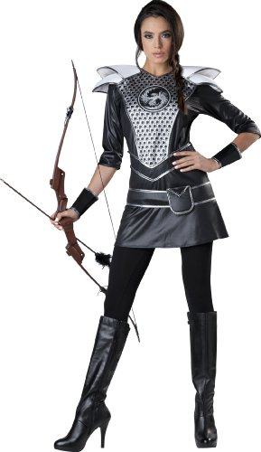 InCharacter Costumes Women's Midnight Huntress, Silver/Black, Small