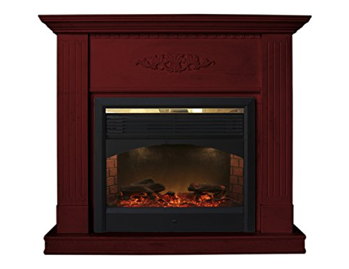 Cherry Diana Electric Fireplace Heater with Remote Control (CHERRY) (Cherry Wood Electric Fireplace compare prices)
