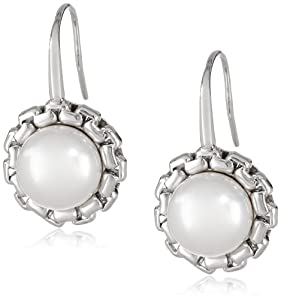 "Honora ""Metro"" White Freshwater Cultured Pearl Dangle Earrings"