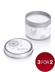 Winter Tin Candle