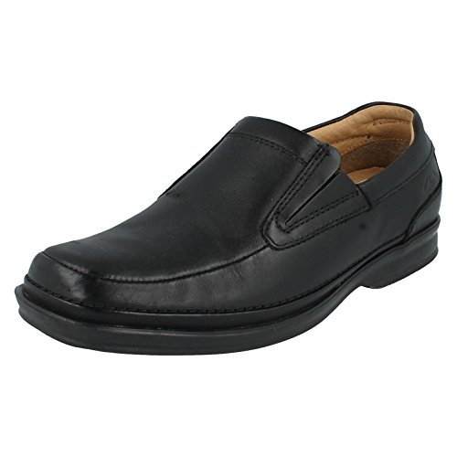 Formale Da Uomo Clarks Slip On scarpe Scopic Step, nero (Black), 41