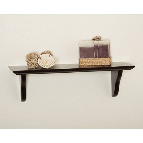 Woodland Home Decor CSE516 16-Inch Espresso Shelf Kit with Corbels (Wood Shelves Wall Mounted compare prices)