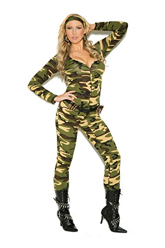 Ultimate Female Combat Warrior Halloween Roleplay Adult Costume 3pc Set