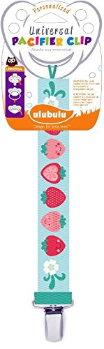 Ulubulu MP-04-99-S-1-029 Expression Strawberry Universal Pacifier Clip, Pack Of 7 - 1