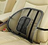 【 ザイルジャパン 】腰痛対策  蒸れないメッシュタイプ クッション イスや車のシートに簡単取り付け (2シート)