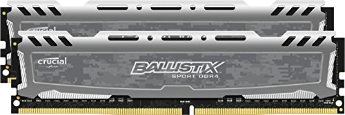 Ballistix Sport LT Kit Memoria da 8 GB (2 x 4 GB), DDR4, 2400 MT/s, (PC4-19200) DIMM, 288-Pin - BLS2C4G4D240FSB