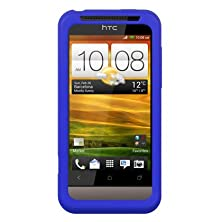 buy Blue Silicone Skin Soft Phone Cover For Htc One V
