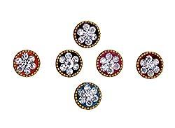 Sunaina Premium Collection Multicolor Medium Size Round Bindis for Women [SPC559]