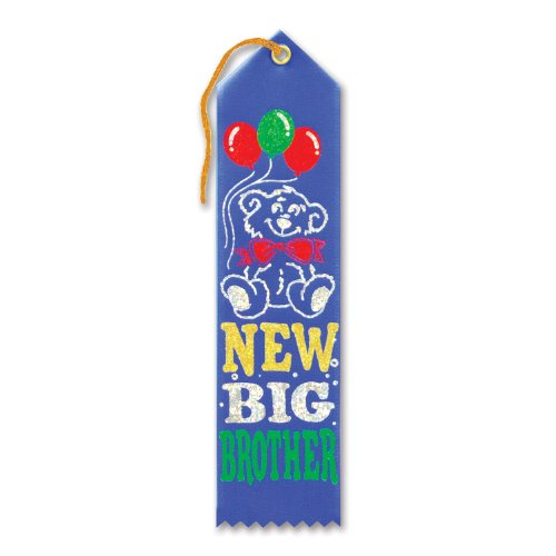 "New Big Brother Award Ribbon 2"" x 8"" Party Accessory - 1"