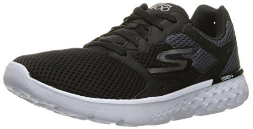 Skechers Performance Men's Go Run 400 Running Shoe, Black/White, 8 M US