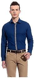 Bolt Men's Casual Shirt (bolt015, Dark Blue, M)