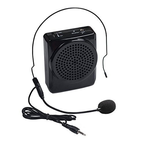 DuaFire Voice Amplifier Portable Microphone with Waistband for Teachers, Speakers, Yoga Instructors, Gym Directors, Coaches, Presentations, Seniors and Tour Guides (Black) (Mic Mixer Amplifier compare prices)
