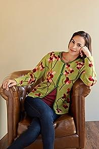 Tey-Art Sabrina Intarsia Alpaca Fair Trade Cardigan